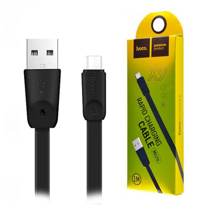 USB кабель Hoco x9 Micro для зарядки и синхронизации (черный) 1 метра