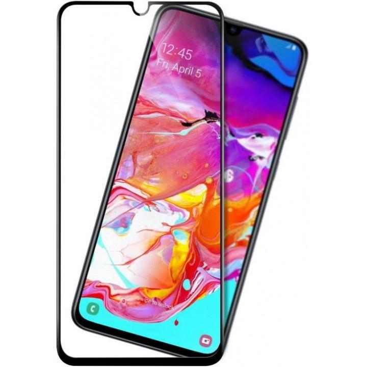 Защитное стекло Samsung Galaxy A70 (черный) 5D