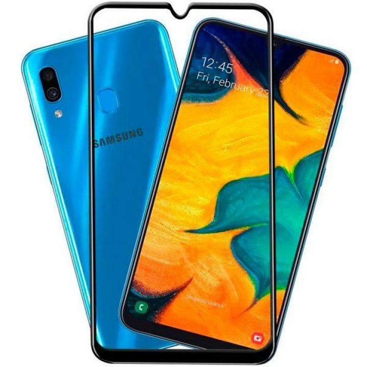 Защитная гидрогелевая пленка Samsung Galaxy A20, A30, A30S, A50, A50S (черный)